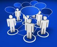 Ogólnospołeczna sieci społeczność internetowa ilustracji