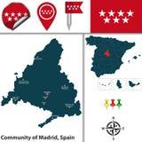 Społeczność Madryt royalty ilustracja
