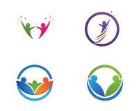 Społeczność symbole i loga ludzie royalty ilustracja