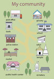 Społeczność w Asia ilustraci wewnątrz  royalty ilustracja