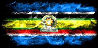 Społeczność Wschodnioafrykańska dymu flaga, EAC flaga royalty ilustracja