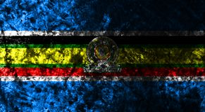 Społeczność Wschodnioafrykańska dymu flaga, EAC flaga ilustracji