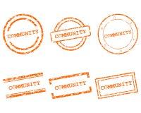 Społeczność znaczki ilustracji