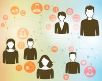 Społeczności łączyć ludzie royalty ilustracja