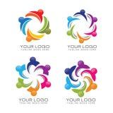 Społeczności i drużyny pracy logo Obraz Stock