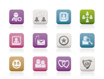 społeczności ikon internetów sieci socjalny Zdjęcia Royalty Free