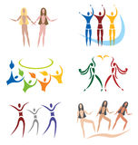 społeczności ikon sieci ustaleni ogólnospołeczni sporty ilustracja wektor