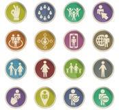 Społeczności ikony set ilustracji