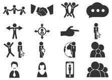 Społeczności ikony ustawiać Zdjęcia Royalty Free