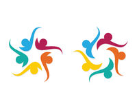 Społeczności opieki logo Fotografia Stock