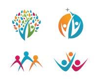 Społeczności opieki logo Zdjęcia Royalty Free