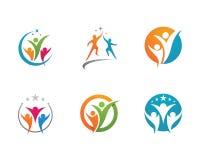 Społeczności opieki logo Obraz Stock