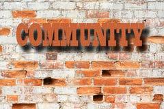 Społeczności pojęcie - społeczność znak Obrazy Stock