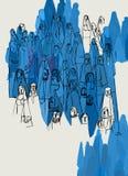 Społeczności różnorodność i uczucie Populacji innorodności pojęcie Kolorowy abstrakt i artistical ilustracja royalty ilustracja