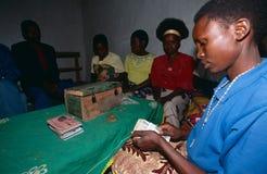 Społeczności upełnomocnienia projekt w Rwanda. Zdjęcia Stock