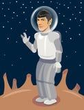 Spock-Raumfahrer auf nicht erforschtem Planeten Star Trek-Vektor Lizenzfreies Stockbild