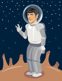 Spock Spaceman on Unexplored Planet. Star Trek vector. Spock Spaceman on Unexplored Planet. Star Tre Royalty Free Stock Image