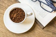 Spoczynkowe godziny Mlejącej kawy Obraz Royalty Free