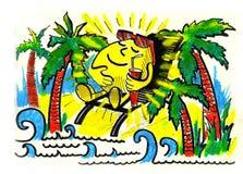 spoczynkowego nieba uśmiechnięty lato słońce Zdjęcie Stock