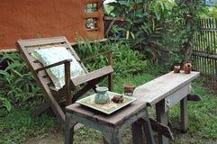 Spoczynkowy Drewniany Krzesło Obraz Stock