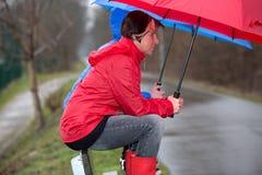 Spoczynkowy okres w deszczu Zdjęcia Royalty Free