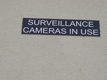 Spoczynkowy przerwy inwigilaci kamery w użyciu znak obraz stock