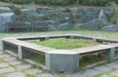 Spoczynkowy teren przy miejscowego parkiem Zdjęcie Royalty Free