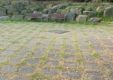 Spoczynkowy teren przy miejscowego parkiem Zdjęcia Royalty Free