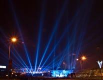Spodek - Sport und kulturelle Arena in Katowice, Polen Lizenzfreie Stockbilder