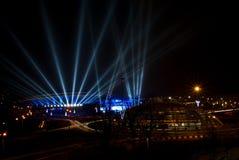Spodek - Sport und kulturelle Arena in Katowice, Polen Stockbild