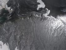 Spodlone krajobrazowe kopaliny minują w południe Polska Zniszczona ziemia Obrazy Royalty Free