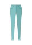 Spodniowi Unisex spodnia Odizolowywający na Białym tle Fotografia Stock