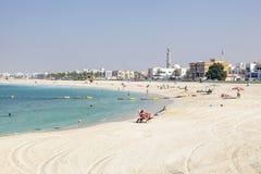 Społeczeństwo plaża w Dubaj Obraz Stock