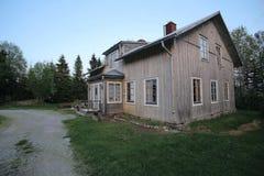 Spoekpraestgaard, a haunted clergy house, in Borgvattnet in Sweden Royalty Free Stock Photos