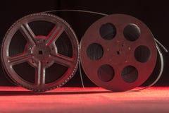 Spoel twee die van film zich op een rode lijst bevinden Royalty-vrije Stock Afbeelding