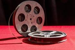 Spoel twee van film op een rode lijst Stock Foto's