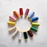 Spoelen van draad in cirkel Royalty-vrije Stock Foto's
