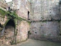 Spofforth Castle 14th Century English Ruins stock image