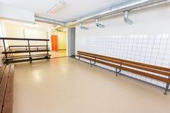 Spogliatoio olandese del gruppo sulla scuola secondaria Fotografia Stock Libera da Diritti