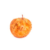 Spoiled apple on white background Stock Image