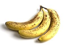 Spoiled bananas Stock Images