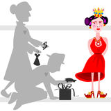 The spoiled child royalty free illustration