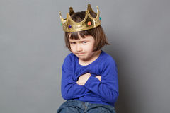 Spoiled kid concept with frustration Royalty Free Stock Photos