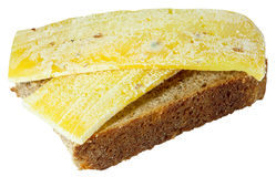 Spoiled moldy inedible sandwich with cheese Stock Photos
