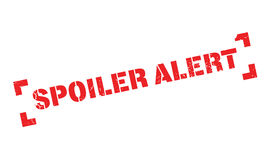Spoiler Alert rubber stamp Stock Images
