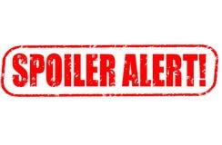 Spoiler alert stamp on white background. Spoiler alert stamp isolated on white background Stock Photos