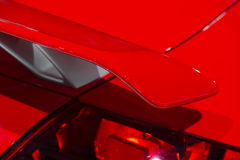 Spoiler rouge de voiture Photo libre de droits