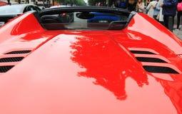 Spoiler rouge de voiture de sport Photos libres de droits