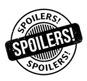 Spoilers rubber stamp. Grunge design with dust scratches. Effects can be easily removed for a clean, crisp look. Color is easily changed Royalty Free Stock Photo