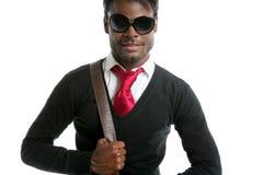 spojrzenie afrykański androginous czarny model obrazy stock